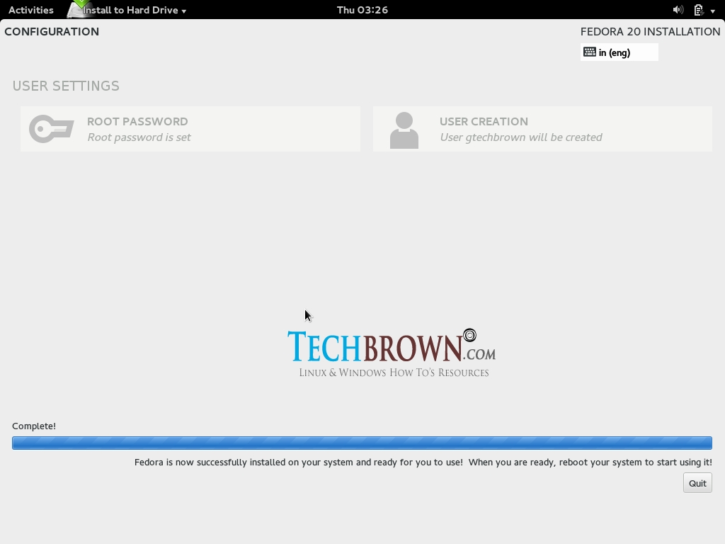 Step-XVIFinishing-the-installation-by-clicking-on-Quit