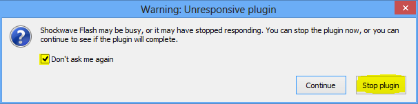 Warning-Unresponsive-Plugin