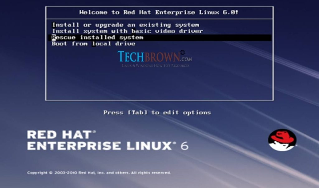 How to Repair Corrupted GRUB on CentOS 6 - TechBrown